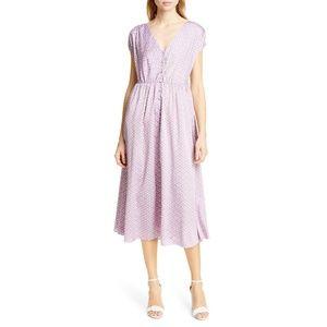 KATE SPADE NEW YORK geo dot midi dress NWT Size 0